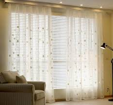 White Window Curtains Sheer Curtains Youyee Semi Sheer Embroidered Solid White