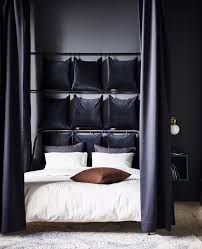 How To Hang Curtains Around Your Bed Design A Dark Cocoony Bedroom