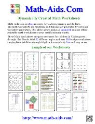 math aids com about us page create math worksheets