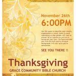 thanksgiving flyer template free download download free