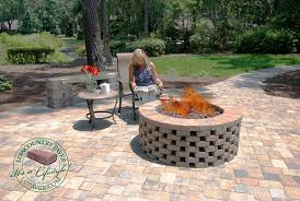 Diy Firepits Diy Firepit Kits Lowcountry Paver Hardscapes Retaining Walls Easy