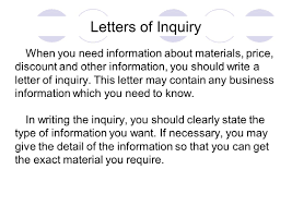 Business Enquiry Letter Example by Letters Of Inquiry Discount And Other Information You Should