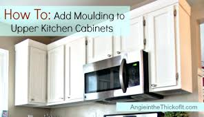 how to add crown molding to kitchen cabinets molding on top of kitchen cabinets kitchen cabinet moulding