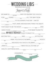 bridal mad libs 8 best images of wedding advice mad libs template wedding mad