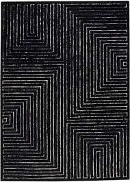 Modern Black Rug Black And White Rug Modern Rugs