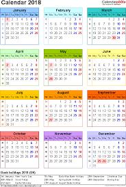 Kalender 2018 Free 2018 Calendar Uk 2018 Calendar Printable