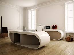 Luxury Office Desk Ultra Modern Goggle Office Desks Rounded Shapes Design Ideas