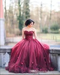 quince dresses 2017 new burgundy strapless gown princess quinceanera dresses