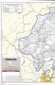 Mexico Map Cities by Hidalgo State Roads Mapfree Maps Of Central America