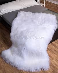 White Sheepskin Rugs Big White Fur Rug Best Rug 2017