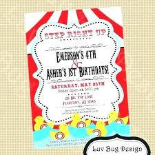 party invitations carnival birthday party invitations and carnival birthday