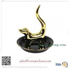 porcelain unicorn ring holder images Ceramic dog ring holder gold jpg