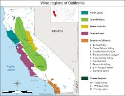 Map Of Napa Valley United States Map Of Vineyards Wine Regions