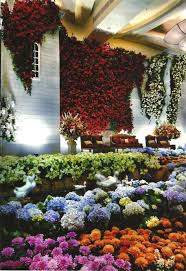 lovely spain garden for indoor wedding decoration project by