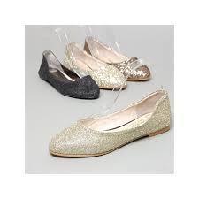 women u0027s glitter gold bronze black flat shoes size us5 us10 w5510