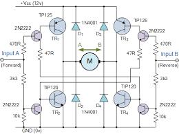 h bridge circuit bidirectional motor control circuit stuff