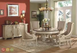 Outstanding Round Dining Room Table Sets Elegant Modern Round - White round dining room table sets