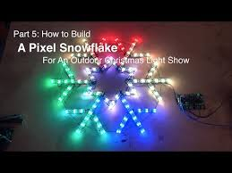 outdoor craft show lighting part 5 how to build a pixel snowflake for an outdoor christmas