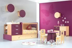 chambre bébé violet design interieur déco chambre bébé theme papillon mur violet déco