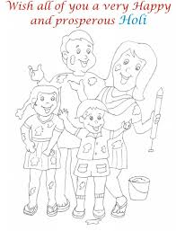 holi coloring pages aecost net aecost net