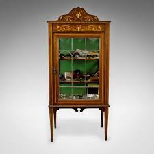 antique display cabinets with glass doors astonishing art nouveau inlaid mahogany display cabinet antique