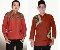 desain baju batik pria 2014 model baju batik muslim pria untuk kerja kantor desain baju muslim