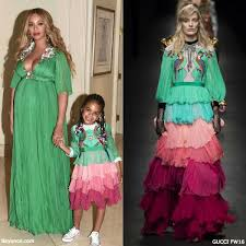 beyoncé u0027s daughter blue ivy u0027s mini me gucci green dress dashin
