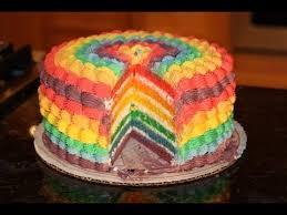 rainbow cake hervé cuisine rainbow vanilla cake recipe and decoration