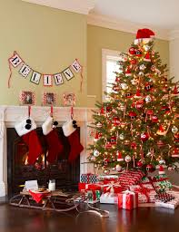 pleasant fireplace for christmas decor presenting magnificent