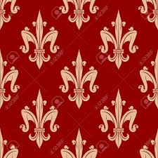 what is floral pattern in french seamless french fleur de lis floral pattern with beige leaf scrolls