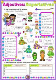 english worksheets the adjectives worksheets page 5