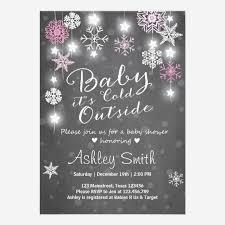 custom snowflake baby shower invites templates babyfavors4u