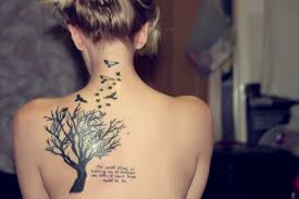 back shoulder tattoos for women 40 lovely birds tattoo designs