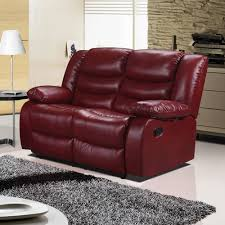 Armchairs Belfast Belfast Cranberry Red Recliner Sofa Collection In Bonded Leather