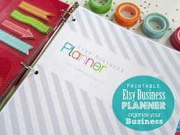 clean life and home printable small business planner organizing