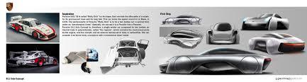 porsche concept sketch porsche 911 solo concept on behance