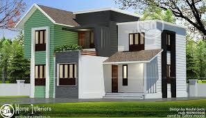 home design plans in 1800 sqft sq ft double floor 4 bhk contemporary home design