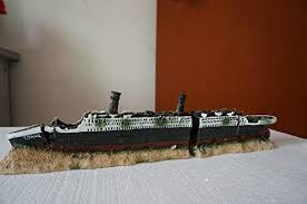 titanic boat ship wreck shipwreck aquarium decoration landscape