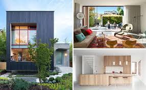 Home House Design Vancouver Carbonized Cypress Wood Covers The Exterior Of This New House In
