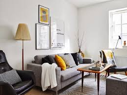 Gray And Yellow Living Room by Living Room In A Scandinavian Style With Yellow Accents U2013 Ideas