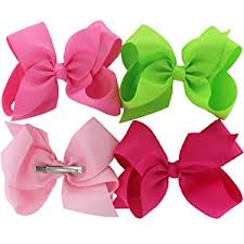 hair ribbon 6 inch hair bows big large grosgrain ribbon boutique
