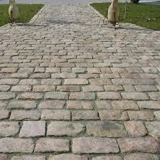 floor design great cobblestone tile flooring pavement for