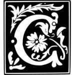 vector clip art of decorative letter i public domain vectors