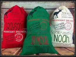 bulk christmas bags custom embroidered christmas pole santa sacks christmas