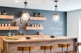 kitchen island reclaimed wood bar chalkboard ideas home bar farmhouse with pendant lighting
