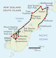 Road America Track Map by New Zealand South Island Adventure Itinerary U0026 Map Wilderness