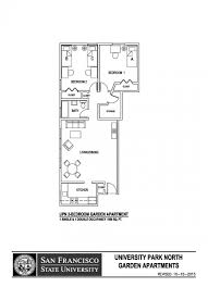 Garden Apartment Floor Plans University Park North Sf State Housing