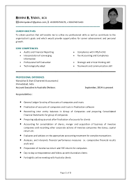 Resume For Ca Articleship Training Cv Of A Qualified Chartered Accountant Rohini R Yadav