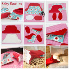 quick and easy sewing for baby baby booties dear creatives