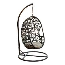 shop best selling home decor egg shaped free standing porch swing